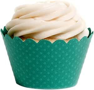 Dress My Cupcake Standard Aqua Cupcake Wrappers, Set of 50