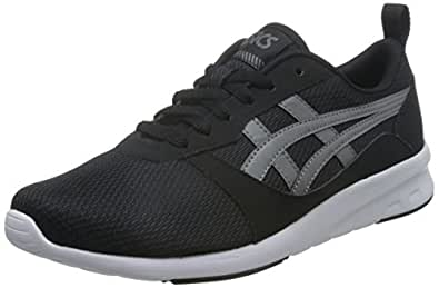 ASICS TIGER 男 休闲跑步鞋亚瑟士 Lyte, Jogger H7G1N 黑色/碳色 40.5 (EU 40.5)(亚马逊进口直采,日本品牌)