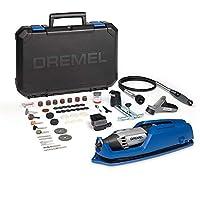 Dremel 4000旋轉工具 175 W 旋轉式多功能工具包,4個附件,65個配件 ,可變速度5000-35000 轉,用于切割,雕刻,打磨,鉆孔,拋光,銑削,刃磨,磨削