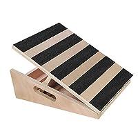 Chainbang 专业木制倾斜板小腿伸缩器,可调节倾斜脚踝伸缩板,额外的侧手柄设计,便于携带,5 个位置锻炼板