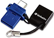Verbatim Store 'n' Go 双 USB 闪存盘 适用于 USB-C 设备99153  16 GB 5.30in. x 3.50in. x