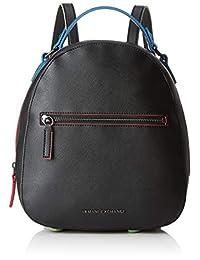 Armani Exchange 女士拉链背包,黑色(黑色),26.5x8.3000000000000007x24 厘米