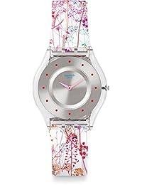 Swatch Women's Classic SFE102 Clear Silicone Swiss Quartz Fashion Watch