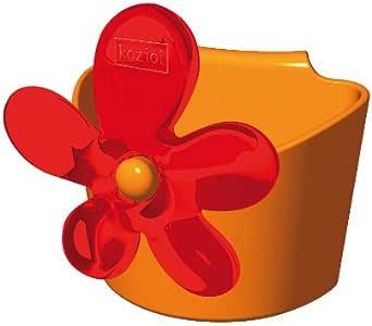 利快Koziol Carryall花朵储物杯盒(橙色)(德国进口)