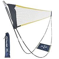 羽毛球网,便携式羽毛球网套装,带支架携带袋,可折叠网球排球网,适合室内户外运动