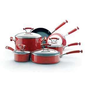 Circulon Contempo Red Dishwasher Safe Nonstick 10-Piece Cookware Set
