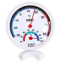 DeLi 得力 9012-室内外湿温度计(75×20mm 白色)
