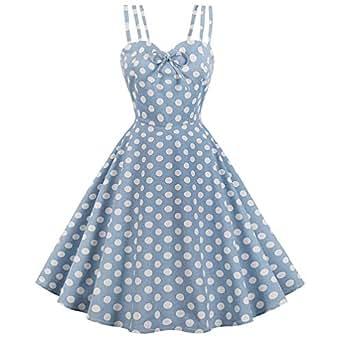 lacelady 一字领复古茶连衣裙带腰带百褶飘逸派对 Floral26 Small