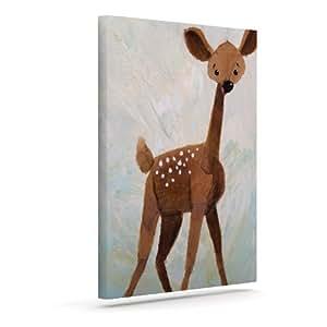 "Kess InHouse Rachel Kokko""Oh Deer""户外帆布墙艺术 24"" x 30"" RK1006AAC05"