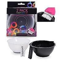 Framar 带刷子清洁剂组合彩色碗 - 混合碗 - 用于*色、漂白剂、*剂、颜色 - 着色套装 - 2 只装