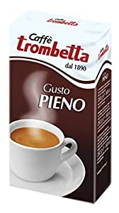 Trombetta Grinded Coffee Gusto Pieno, 8.5 Ounce (Pack of 20)