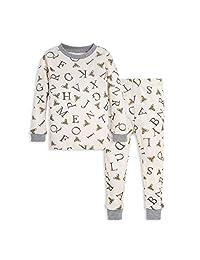 Burt's Bees baby 宝宝幼儿 a-bee-c T恤和裤子套装