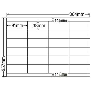 东洋印刷 单张贴 标签 B4版 24面附(1盒500张) EH24S A4