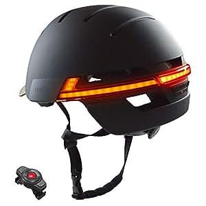 Livall 中性 - 成人BH51M 音乐,尾灯带白天/夜间自动闪烁,导航,呼叫功能和 SOS 系统自行车头盔,黑色,57-61 厘米