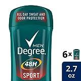 Degree Men Dry Protection Antiperspirant, Sport 2.7 oz (Pack of 6)