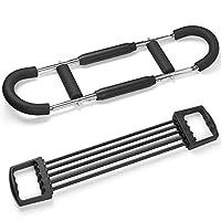 Odoland Power Twister 和 Chest 臂扩张器,胸部和上臂冲击波,肩部和手臂力量构建器适用于家庭健身房肌肉训练锻炼器