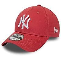 New Era 9FORTY 纽约洋基队棒球帽 - MLB League Essential - 珊瑚色