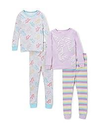 candlesticks 女婴4件装舒适修身睡衣套装