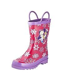 Disney 冰雪奇缘女孩 Anna and Elsa 粉色雨靴 - 不同尺寸