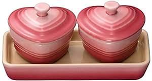 Le Creuset 酷彩 迷你心形珐琅彩小碗 2个装 粉晶色 910384-00-178