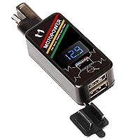 摩托车 USB 充电器 9- SAE to Dual USB Adapter W/LED Display