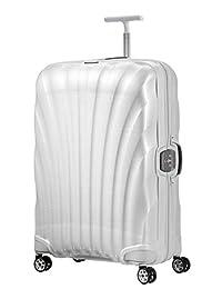 Samsonite 新秀丽 Lite-Locked - 拉杆滚轮行李箱 75/28 , 75 cm, 93 L, 白色 (米白色)