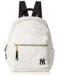 [MAJERRYG棒状球]背包 双肩包 双肩包 迷你背包 洋基队 纽约 女士 可爱 绗缝 时尚 刺绣 上学 学生 成人 通勤 旅行 YK-MBBK24(S)
