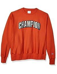 Champion LIFE 男式反面针织圆领冠军足弓  焦橙色 X-Large
