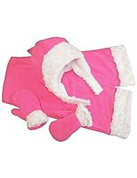 N'Ice Caps 小女孩和婴儿羊绒内衬微绒毛丝绒 3 件套