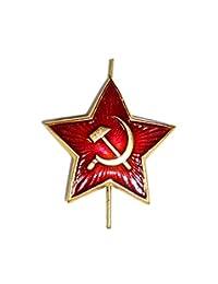 俄罗斯苏联红色星星帽别针徽章 kokarda XM .SM. 星星
