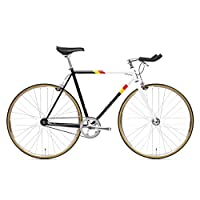 State Bicycle 4130 - Van Damme | 双层铬钼钢框架支架和内部电缆布线 - 固定齿轮/单速 | 46 厘米斗牛角