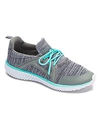 女式运动鞋运动针织网眼跑步轻便 GO EASY 步行休闲舒适跑鞋2.0