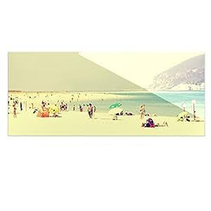 Kess InHouse Ingrid Beddo Lazy Days 夏日海滩豪华矩形板,9 x 21 英寸