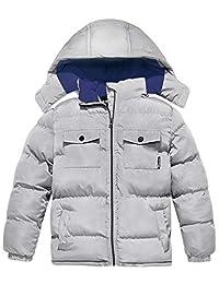 Wantdo 男童夹棉冬季外套厚实保暖夹克带可拆卸兜帽