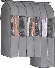 アストロ 西服套收納整理帶洋裝厚度、保存。 灰色 スーツ用×2 ロング用×1