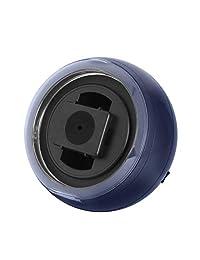 Watch winder(ウォッチワインダー) - ネイビー、LEDライト、回転方向選択可KA077(DP) ??- KA077(DP)