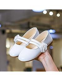 3-12岁女童鞋子2019新款花朵韩版4软底春季公主鞋女孩豆豆鞋单鞋5