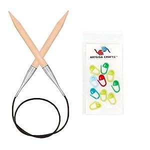 knitter's Pride basix 圆形33cm ( 120cm ) 织针美国码11( 8.0mm ) 带10artsiga CRAFTS stitch 马克笔