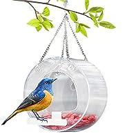 外挂式鸟类喂食器,透明亚克力小窗鸟喂食器,适用于紫色雀巢、小鸡、红雀、蓝鸟、莺、蜂鸟