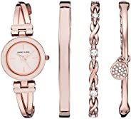 Anne Klein Women's Bangle Watch and Swarovski Crystal Accented Bracelet
