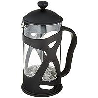 Bruntmor KRATER 优质手工法式压印机/耐热玻璃瓶和不锈钢双屏活塞完美咖啡和茶壶 1 升,34 液体。 容量为 8 杯。 W/3 赠品屏幕 Jonax 34oz BRKRTR34