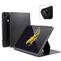 Alpha 保护套 - 2020 iPad Pro 12.9英寸* 4 代(新型号) - 非常保护但超薄 + 方便的磁性支架 + */唤醒盖 - ZUGU 保护套 黑色