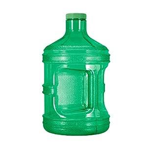 GEO 1 Gallon (128oz) BPA Free Reusable Leak-Proof Drinking Water Bottle w/48mm Screw Cap (Green)