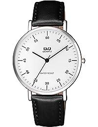 [西铁城 Q&Q]CITIZEN Q&Q 手表 模拟 日常生活防水 皮带 海外款 白色×黑色 Q978J324 男款