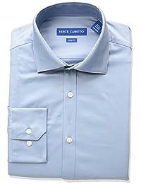 Vince camuto 男式修身款纯色商务衬衫