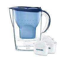 Brita 碧然德 濾水壺 入門裝 Marella, 包含3個Maxtra+濾芯 藍色