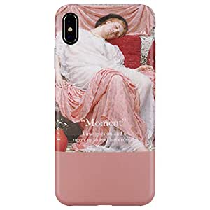 iPhone Xs MAX 手机壳,金黄色修身超薄防刮防尘防指纹 TPU 胶手机壳,适用于 iPhone Xs MAX 6.5 英寸 Asleep Girl