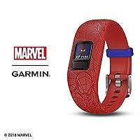Garmin 佳明 vívofit jr. 2 – 弹性 BB-8 – 儿童活动追踪器010-01909-36 新品 Adjustable band Spiderman (Red)