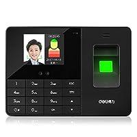 得力人脸指纹式考勤机打卡机 3763人脸识别考勤机 免软件安装包邮