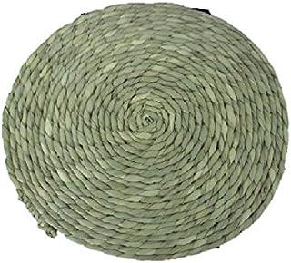 [青木旗舰店] 七岛 自然草* 柔软圆形座 米色 31.0~32.0 cm